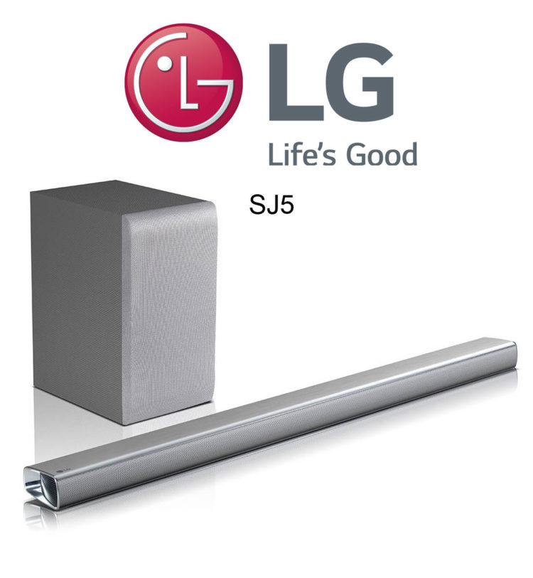 LG SJ5 Soundbar mit kabellosem Subwoofer und 320 Watt Leistung