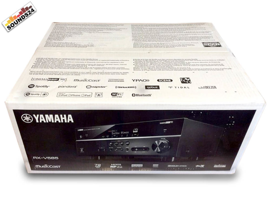 Verpackung des Yamaha RX-V585