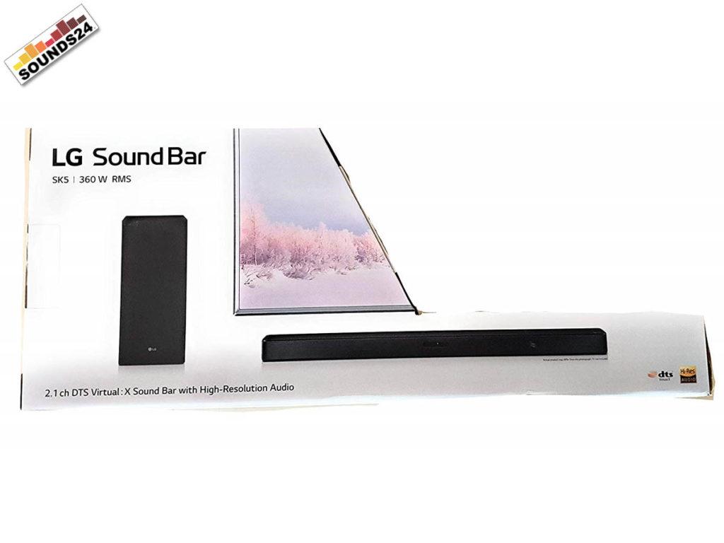 LG SK5 Soundbar Verpackung