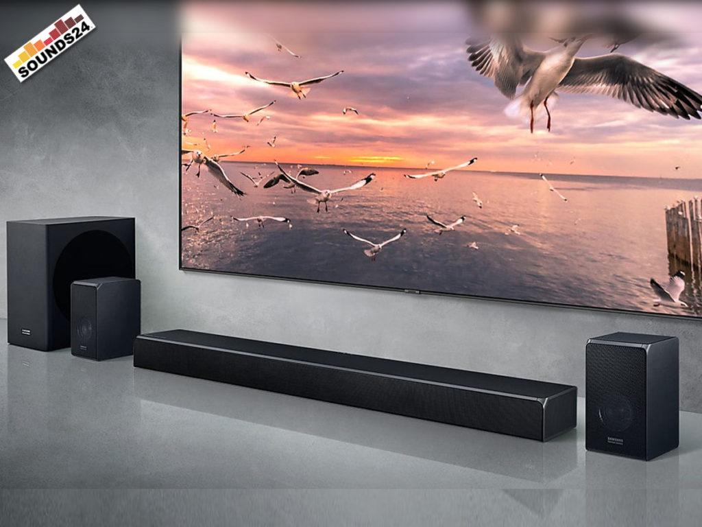 Samsung HW-Q90R Soundbar mit kabellosem Subwoofer und Rücklautsprecher